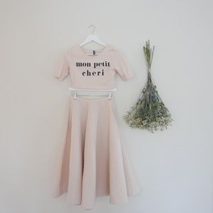 Dresses & Skirts - 50s Baby Pink Set